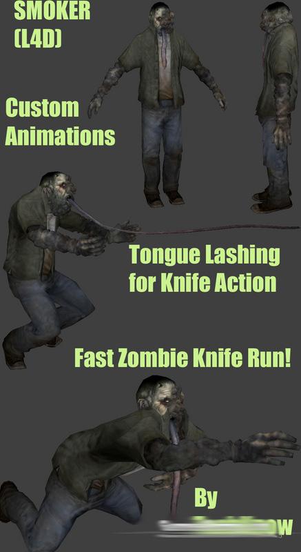 Скачать Курильщик из игры L4D для зомби сервера css