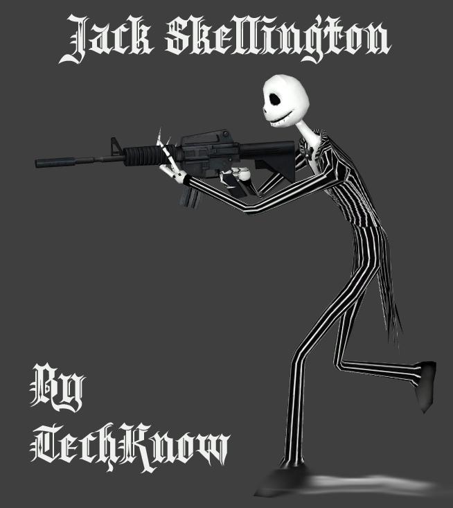 Скачать Скин зомби Jack Skellington для сервера css