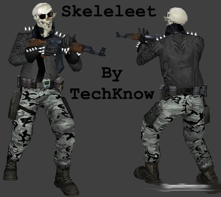 Скачать Скин зомби skeleleet для сервера css