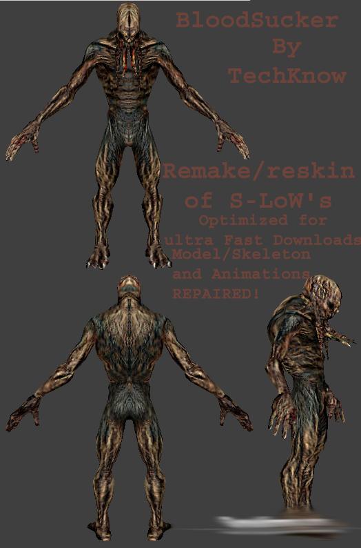Скачать Скин зомби кровосос из игры S.T.A.L.K.E.R. для зомби сервера css